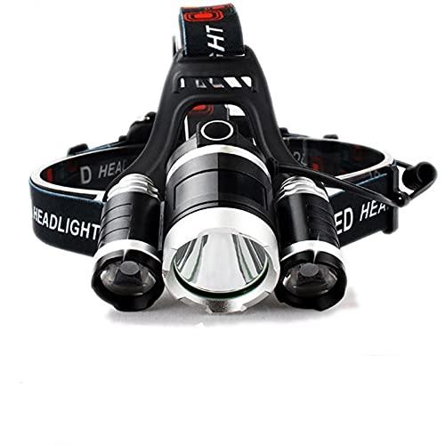 JSJJQAZ Recargable LED faro bicicleta cabeza lámpara T6 Pesca linterna antorcha linterna faro para la caza luz