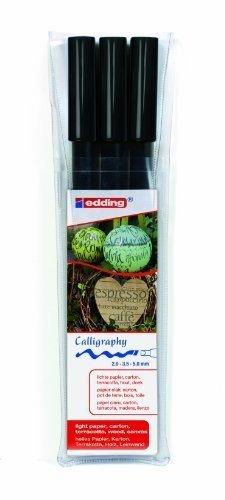edding 1255 Calligraphy Pen Pack of 3 - Black by Edding