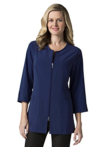 Maevn-Smart-Lab-Coats-Ladies-34-Sleeve-Lab-Jacket