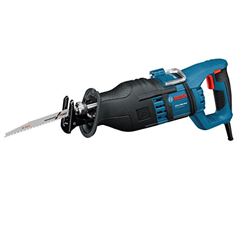 Bosch Professional Scie Sabre GSA 1300 PCE (1300 W, Profondeur de Coupe Maxi : 230 mm, avec SDS et Constante Electronique, 2 Lames (Bois/Métal), dans Coffret) Bleu