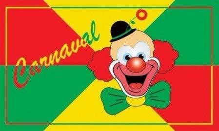 Fiesta Palace - drapeau carnaval clown 90 x 150 cm