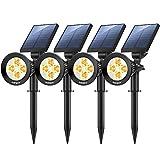Nekteck 4 Pack Solar Lights,2-in-1 Outdoor...
