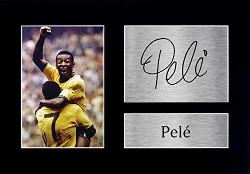 HWC Trading Pele A4 Ungerahmt Signiert Gedruckt Autogramme Bild Druck-Fotoanzeige Geschenk Für Brazil Fußball Fans