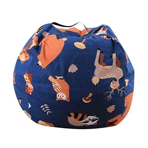 Guoxy, organizer per giocattoli per la casa, antipolvere, per coperte, grande, riduce l'ingombro del divano, sedia per bambini e adulti, animali ripieni, 66 cm