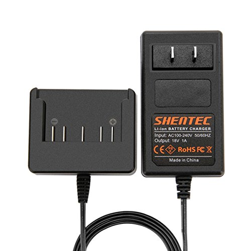 Shentec 18V Lithium-Ion Slide-in Style Battery Charger Compatible with Bosch 18V BAT609 BAT609G BAT618 BAT618G BAT619 BAT619G BAT610G 2607336169 2607336170 2607336236 2607336091 2607336092