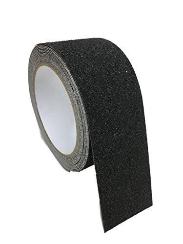 Antislip grip, plakband, antislip tape, 50 mm breed, waterdicht, binnen en buiten, geen uitglijden trap, ladder, ingang auto, laadruimte voor auto, 5 meter of 10 meter - zwart, 10Meter, 1