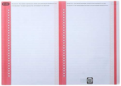 Elba 100330201 - Pack de 600 hojas 27 etiquetas para carpetas colgantes para armario ✅