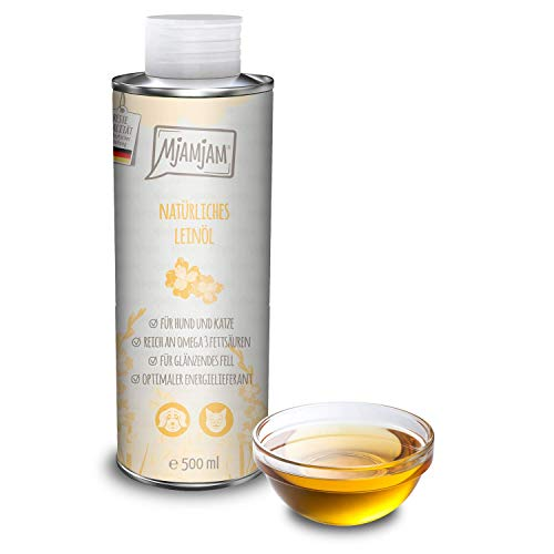 MjAMjAM Natural Linseed Oil for Dogs and Cats 500 ml