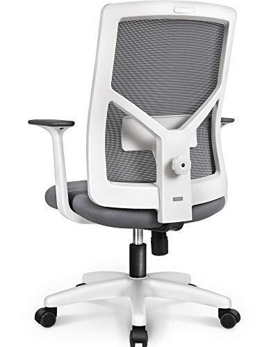 NEO Chair Office Chair Computer Headrest Desk Chair - Head Rest Business Ergonomic High Chair Cushion Lumbar Support Wheels Comfortable Mesh Racing Seat Adjustable Swivel Rolling Executive, Gray-B