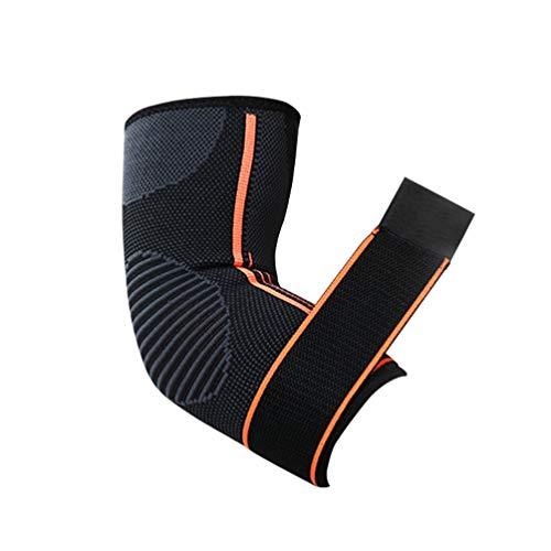 BESPORTBLE Ellenbogenorthese Kompressionshülse Armstütze Ellbogenmanschetten für Sehnenentzündung Arthritis Bursitis Golfer Größe S Orange