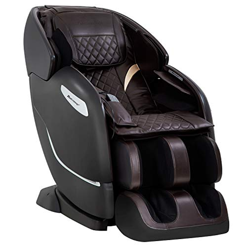 Zero Gravity Full Body Electric Shiatsu Massage Chair SL Track Recliner with Built-in Heat Therapy Foot Roller Airbag Massage System Stretch Vibrating Wireless Bluetooth Speaker