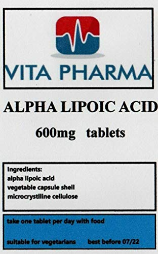 Alpha LIPOIC Acid (ALA) 600mg 120 Tablets, Powerful antioxidant, Glucose Metabolism, 4 Months Supply