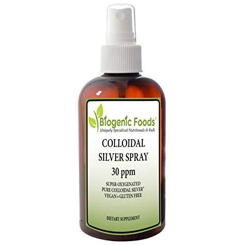 Colloidal Silver Spray - 30 ppm Super-Oxygenated Pure Non-GMO Solution, 4 oz