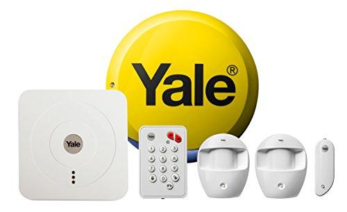 Yale SR-320 Blanco Sistema de Alarma de Seguridad - Sistemas de Alarma de Seguridad (104 dB, Blanco, Botones, 1 Pieza(s), 2 Pieza(s), Sensor infrarrojo pasivo (PIR))