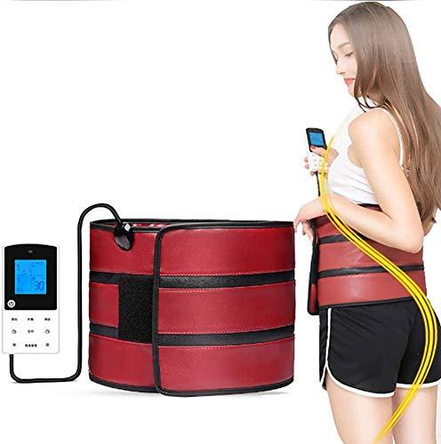 XHDMJ Ceinture De Massage Fitness Minceur Ceinture De Massage, Chauffage Infrarouge Lointain 10 Modes De Vibration pour Perdre du Poids Et Favoriser La Digestion