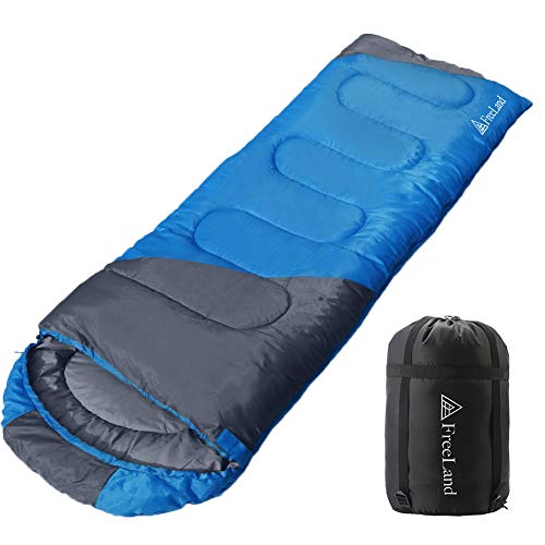 FreeLand Camping Sleeping Bags for Adults & Kids, Lightweight, Compact, Waterproof Camping Gear Equipment for Backpacking, Hiking & Traveling, Blue Color