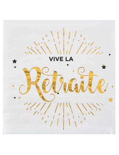 SANTEX 5649-1, Sachet de 20 serviettes Vive la retraite