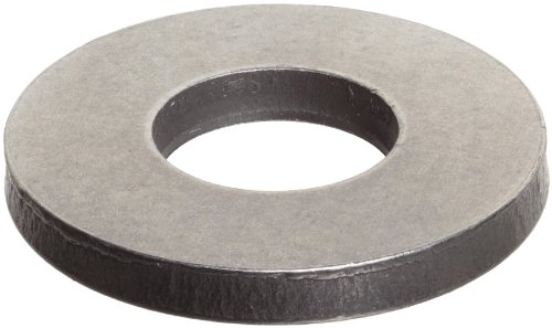 "Steel Round Shim, Matte Finish, Full Hard Temper, 0.020"" Thickness, 5/8"" ID, 1"" OD (Pack of 10)"
