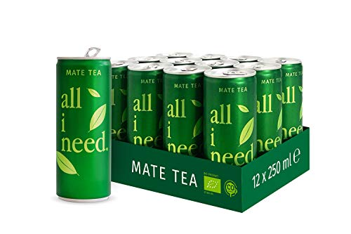 all i need Mate Tee, matcha, 250 ml (12er Pack)
