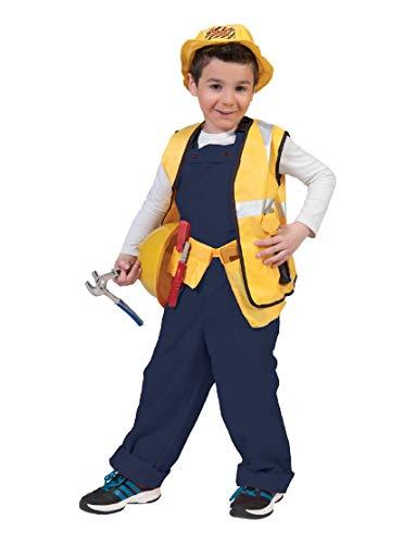 Kostüm Latzhose Bodo orange Kind Größe 116 Kinderkostüm Jungen Mädchen Bauarbeiter Handwerker Gärtner Clown Karneval Fasching Pierro's