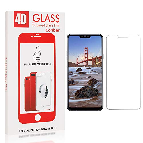Conber Screen Protector for LG G7 / LG G7 ThinQ, (1 Pack) 9H Hardness Tempered Glass Film Screen Protector for LG G7 / LG G7 ThinQ [Shatterproof][Scratch-Resistant]