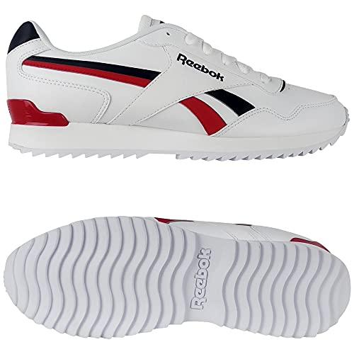 Reebok Royal Glide Ripple Clip, Zapatillas de Running Hombre, FTWBLA/VECNAV/VECRED, 39 EU