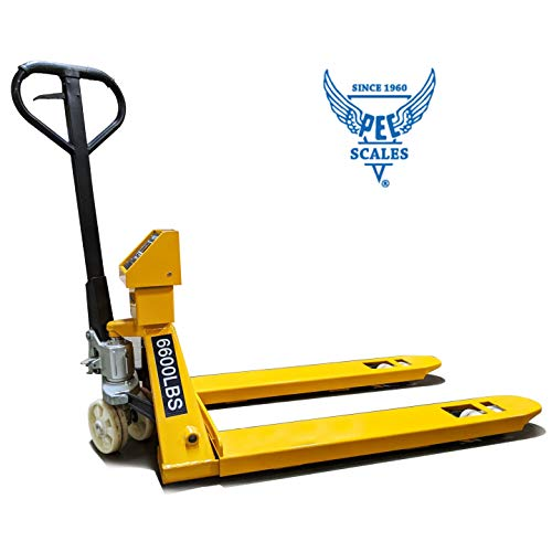 PEC 5000lbs Capacity Pallet Jack with Build-in Scale and Printer, Fully Assembled for Heavy-Duty Industrial Warehouse, Loading and Weighing