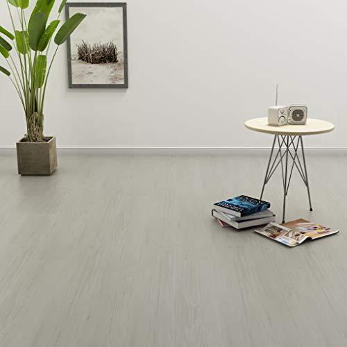 N/O Viel Spaß beim Einkaufen mit Klickboden 3,51 m² 4 mm PVC Hellgrau