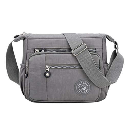 UINGKID Multi poche occasionnel Cross Body Bag Voyage Bag Messenger Sac à main pour le shopping Randonnée utilisation quotidienne