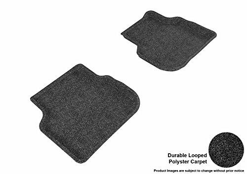 3D MAXpider Second Row Custom Fit Floor Mat for Select Volkswagen Jetta Models - Classic Carpet (Black)