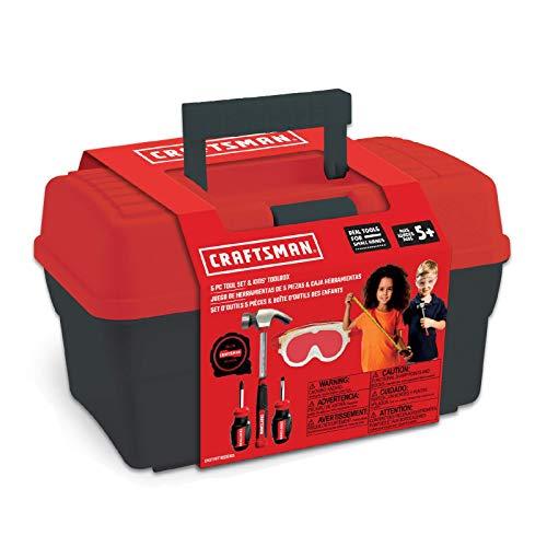 Tool Box+Set 4-5 pcs PH Mini Screwdriver, Flat Mini Screwdriver, Tape Measure, Safety Goggles, Toolbox