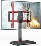 FITUEYES Soporte Giratorio Universal para TV de 32 a 60 Pulgadas, Soporte de Pedestal Ajustable con Base de Vidrio Templado para hasta 50 kg máx. Vesa 400 x 400 mm