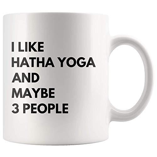 WTOMUG I Like Hatha Yoga And Maybe 3 People Namaste Meditation Gift For Best Yoga Teacher Ever Instructor Namaste Theme Coffee Mug 11 oz