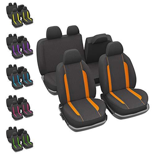 DBS 1012868 stoelhoezen, auto, oranje, universeel, antislip, afwasbaar