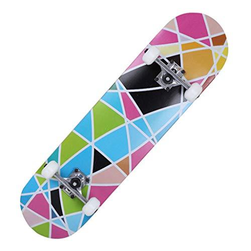 HSD Longboard Skateboard Komplett Board Holzboard Kinder Erwachsene Coole Designs Cruiser Boards City Scooter Farben zur Wahl (79cm)