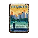 Atlanta City Retro Reise Landschaft Poster Retro Poster