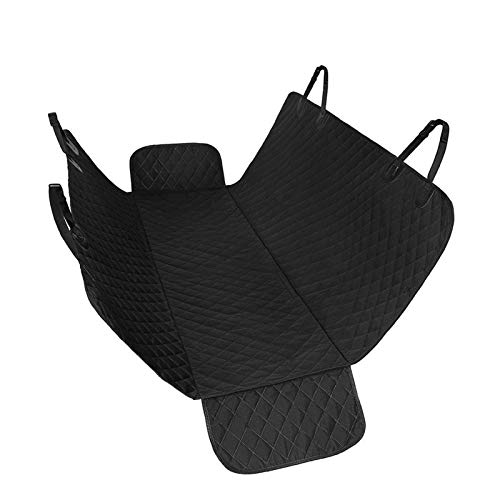Dog Car Seat Cover Travel Dog Car Seat Cover Car Pet Dog Carrier Car Bench Seat Cover Waterproof Pet Oxford Hammock Mat Cushion Protector (Color : Black Half Wing, Size : 153x143cm)