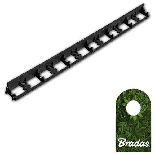 Bradas 1m Rasenkante Beeteinfassung Beetumrandung PVC Mähkante 45/1000mm Rim-Bord OBRB45TYP2 0551
