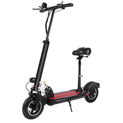 WLDOCA Scooter eléctrico para Adultos, de Largo Alcance de la batería del Motor 500w, con Asiento Ajustable y Desmontable, Plegable Fácil & Carry Diseño E-Scooter con Pantalla