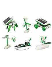 Game building and assembly 6 forms of mobile solar energy, child skills development to a car rotary hovercraft windmill 6 forms in 1 useful game for activity in school and competitions