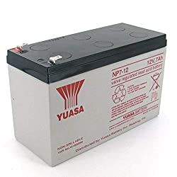Yuasa NP7-12 12V/7Ah Sealed Lead Acid Battery with F1 Terminal - Compatible with NX8 and NX8E