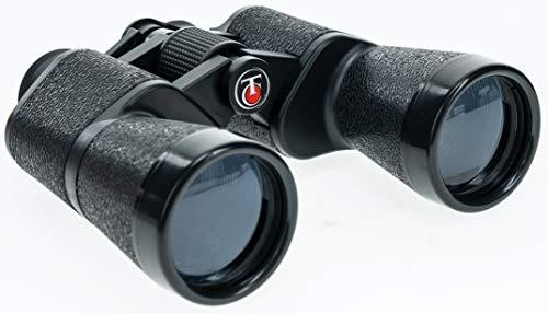 Thompson Center Porro Prism Binoculars with Low Light Vision, Coated Glass, Neck Strap and Carry Case for Bird Watching, Hunting and Outdoors