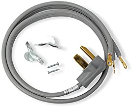Appliance Pros AP-PT220L Electric Dryer Cord, 3 Prong Extension Cord for 3 Prong Dryer Plugs Outlet, Dryer Cable, 4 Foot Cord, Fits Leading Dryer Brands and Models