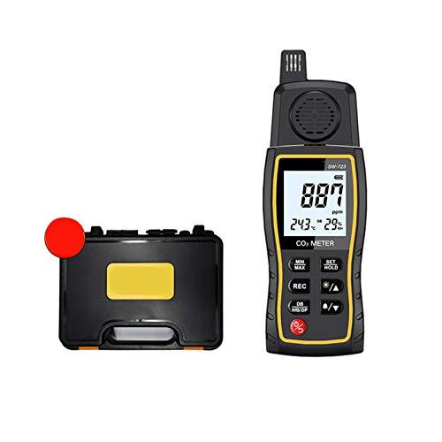 YOGANHJAT CO2-Messgerät kohlendioxid detektor, CO2-Meter Luftfeuchtigkeitstemperatur-Tester ℃ / ℉ CO2 Messgerät digitales LCD für Zuhause Büro Auto Außen Innen