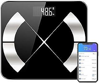 TBONEEY Bluetooth Balanza de Escala de Grasa Corporal, Carga USB Báscula Inteligente Bluetooth 4.0 Digital Analizador de C...