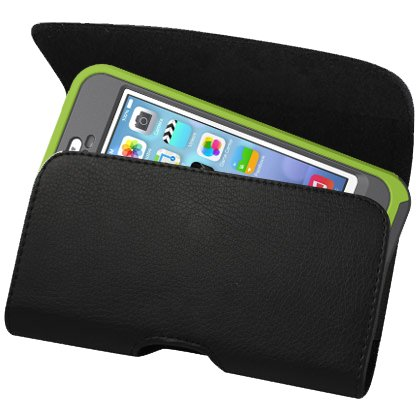 Kuteck XXL SIZE Premium Apple iPhone 6 4.7 inch Screen 2014 Leather Belt Clip Pouch Case Cover Holster (Fits with OTTER BOX Defender / LIFEPROOF / Mophie Juice Pack Air/Plus Case On) . Includes A Stylus Pen
