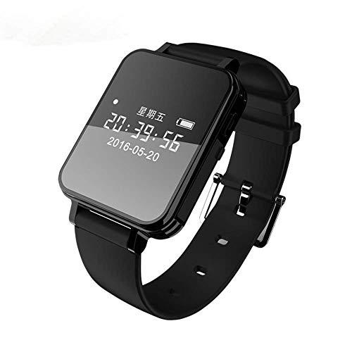 HM2 Business Voice Recorder Armbanduhr, Digitale Diktiergeräte-Armband-Armbanduhr, MP3 Lange Batterie-Lebensdauer Sound Recorder - Schwarz