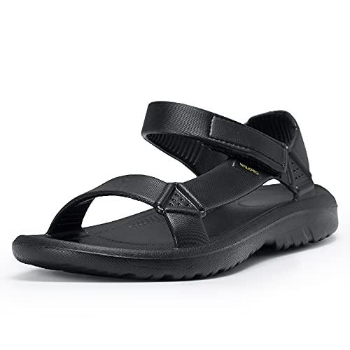 Outdoor Sandalen Herren Schuhe Hallux Valgus Barfußschuhe Sommer Large Weit Größe 39 40 41 42 43 44 Sommerschuhe Sandal Schwarz Weiß Gelb Green Atmungsaktive Comfort Einlage(Schwarz,43)