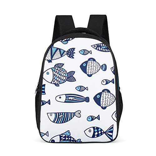 Unisex Backpack Back Pack Casual Daypacks 3D Cartoon Patterns Shoulder Bags High-grade Materials Teenage Bags For Hiking grey onesize