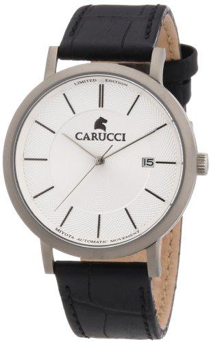 Carucci Watches Herren-Armbanduhr XL Analog Automatik Leder CA2192SL